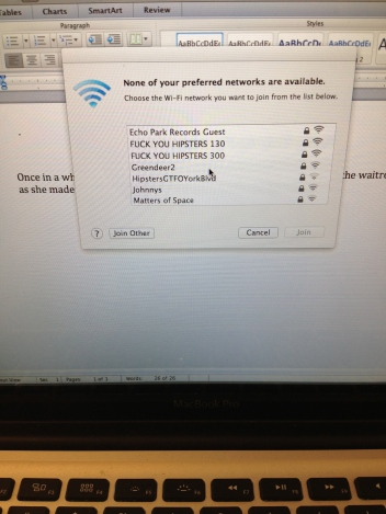 Hipsters GTFO Wifi