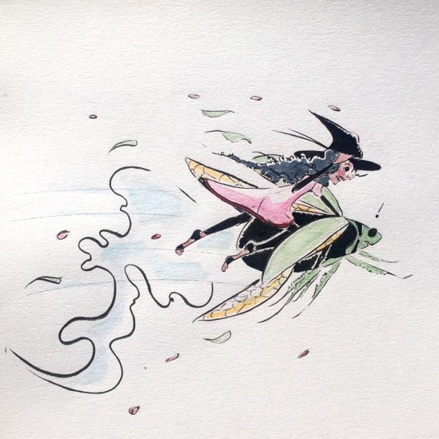 inktober-sketch-witch-october-fast-illustration